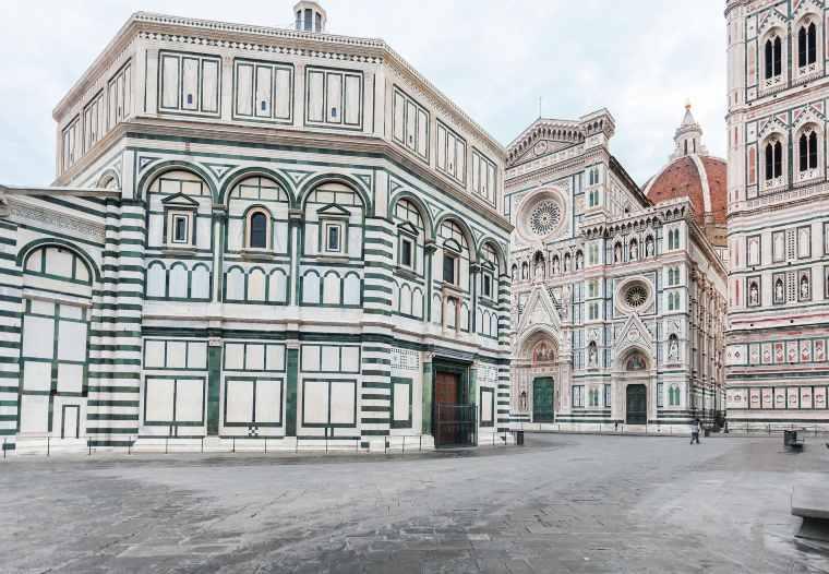 פיאצה דואמו בפירנצה, דואמו של פירנצה, בית הטבילה של פירנצה