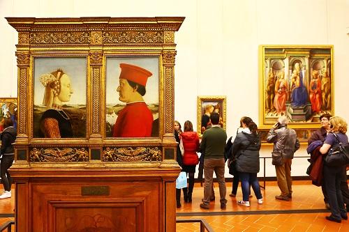 הדרכה במויזאון האופיצי בפירנצה